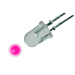 Dioda LED 5mm Pink 1560 mcd
