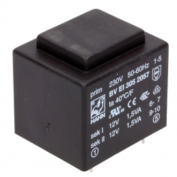 Transformator 9V 1,9W p
