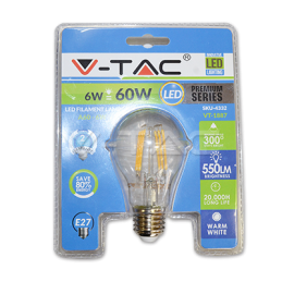 LED Žarulja E27 6W B