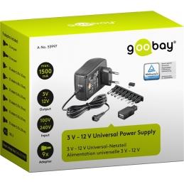 Adapter mrežni 1500mA 3-12V