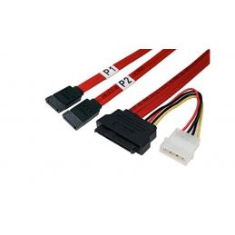 Kabel SATA DATAx2+NA...
