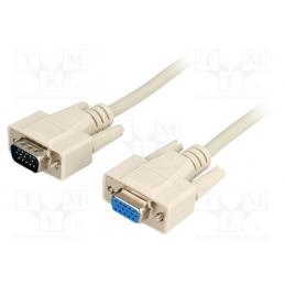 Kabel VGA 3m muški - ženski