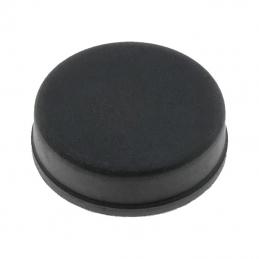 Samoljepljiva nogica; crna; guma; A: 20 mm; B: 19 mm; E: 6 mm
