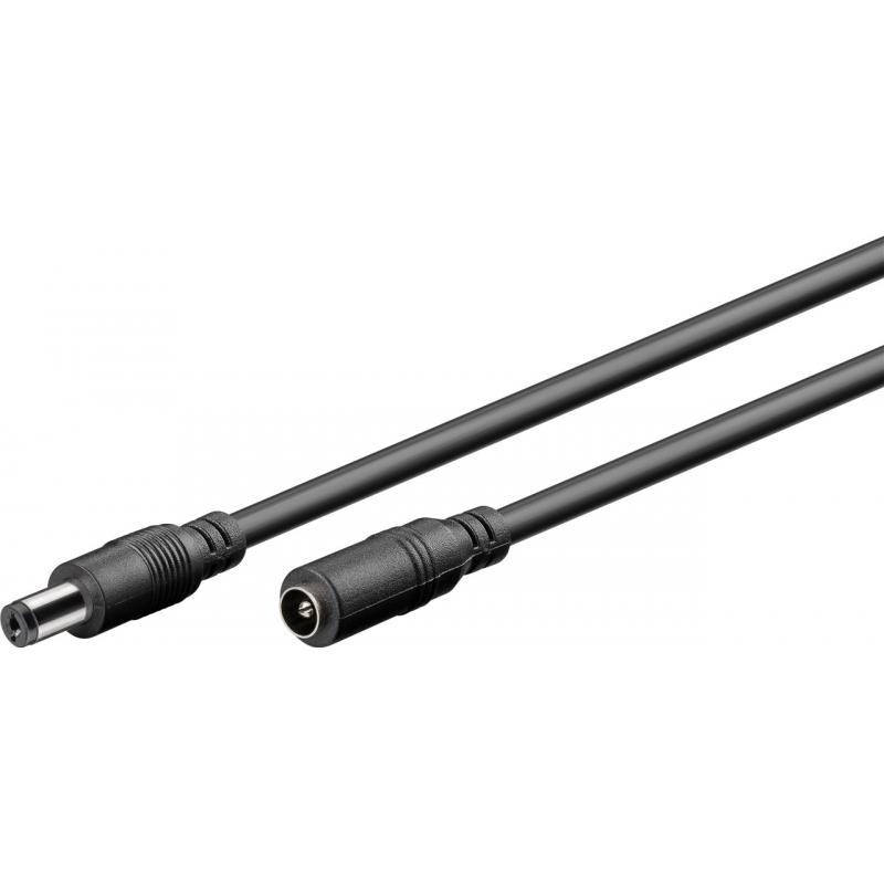 DC 2,1 mm produžni kabel, crne boje