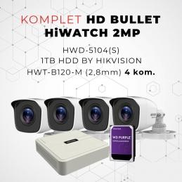 Komplet HD BULLET HiWATCH 2MP
