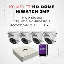 Komplet HD DOME HiWATCH 2MP