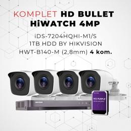 Komplet HD BULLET HiWATCH 4MP