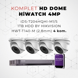 Komplet HD DOME HiWATCH 4MP