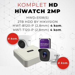 Komplet HD DOME HiWATCH 2MP 8ch